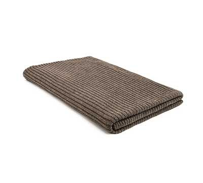 Mrs.Me home couture | Blanket | Knitted Mohair Rib Deep Taupe