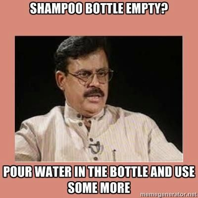My dad totally does this with our soaps and shampoos