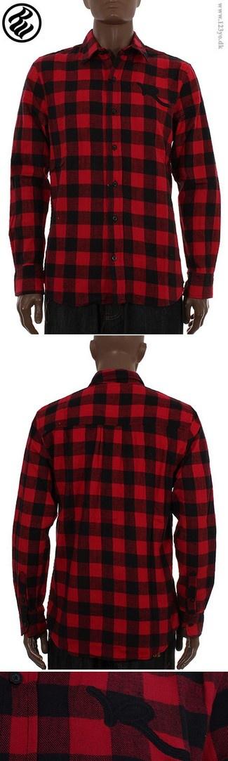 ROCAWEAR Langærmede Flannel skjorte - køb langærmede skjorter, skovmandsskjorter  i vores online shop www.123yo.dk