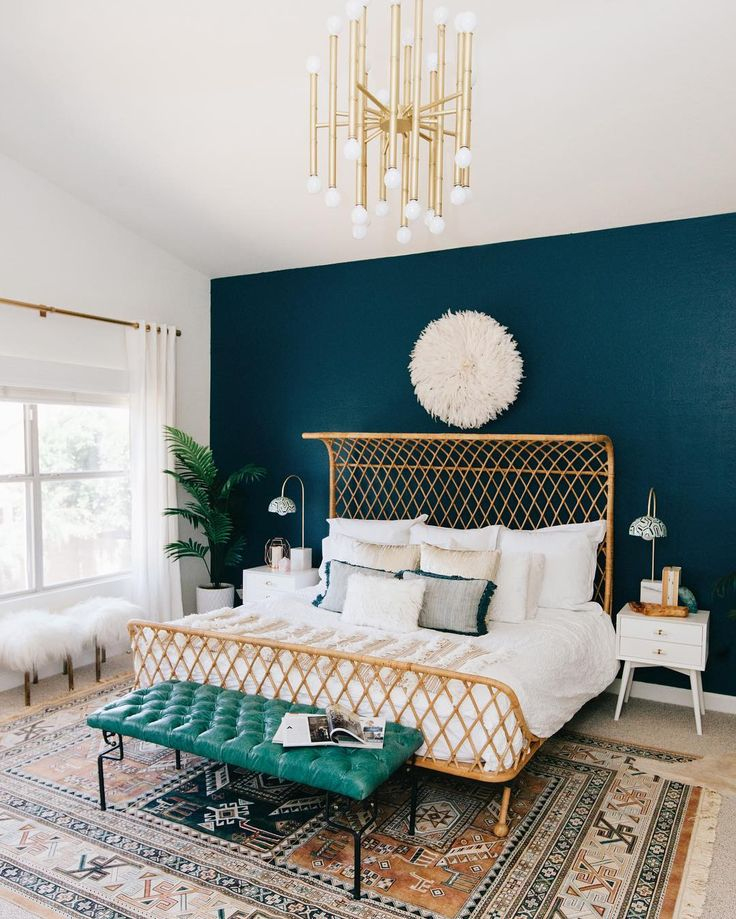 We're never going to tire of this master bedroom that @decoristofficial designed for @avestyles. See more at ruemag.com! by @rennaihoefer by ruemagazine