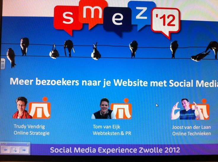Boeiende workshop bij SMEZ'12