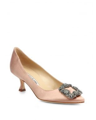 4fc607555b3b Manolo Blahnik Hangisi 50MM Satin Pumps Pink