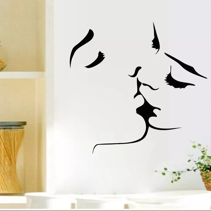 Romantic Lovers Kissing Wall Decals Living Room Bedroom Removable Wall Stickers Murals Wall Stickers Home Decor Wall Decor Stickers Wall Art Stickers Online with $8.2/Piece on Flylife's Store | DHgate.com