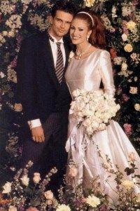 Ashley Hamilton and Angie Everhart wed in 1996