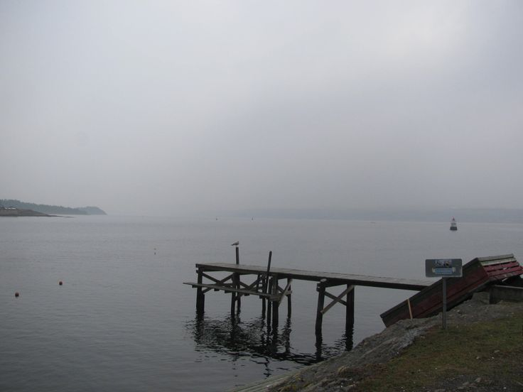 By the Oslo islands, a misty day.