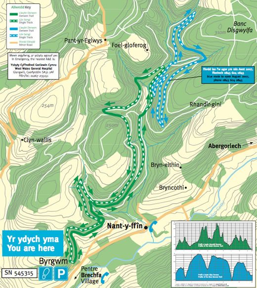 Derwen Blue Mountain Biking Trail | Cognation. Ideal for beginners