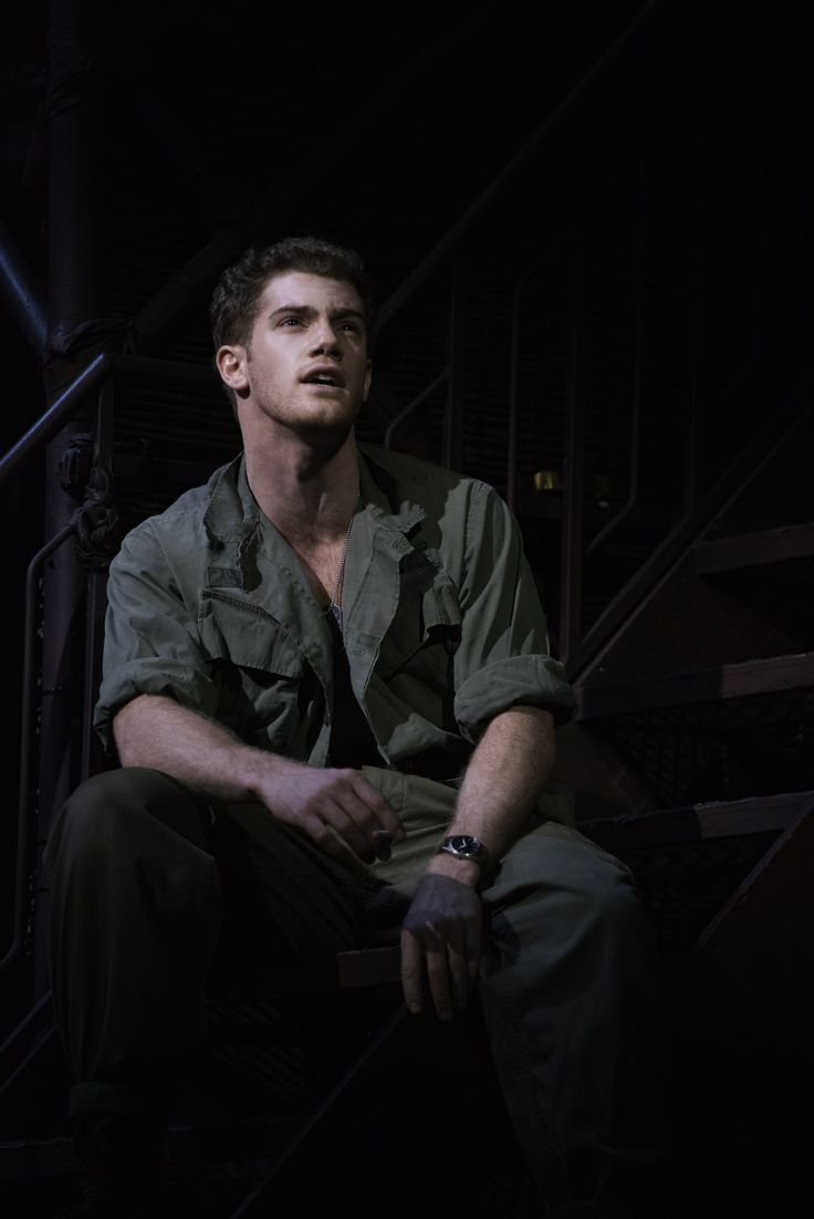 Alisair Brammer as Chris in the West End revival production of Miss Saigon 2014