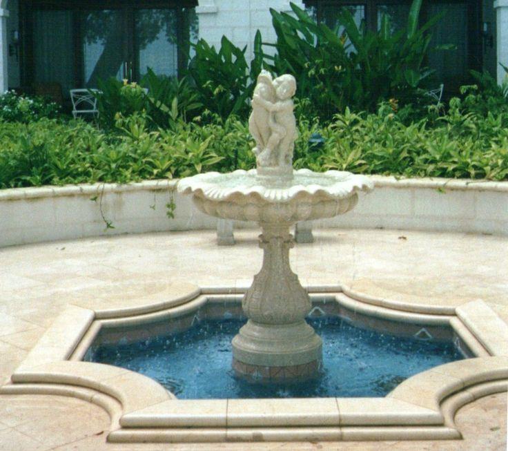 Fountain in italian vicenza limestone design by garden for Yard statues las vegas