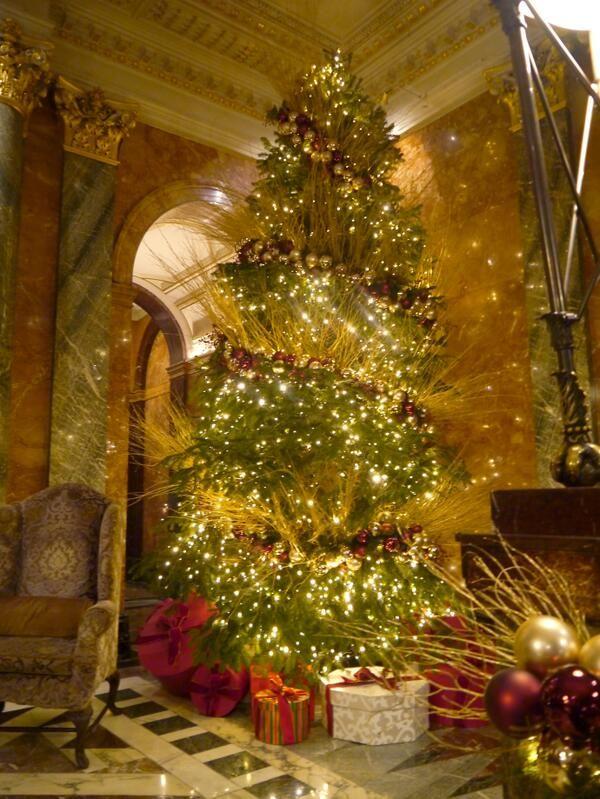 Mandarin Oriental hotel London's sparkling Christmas tree.