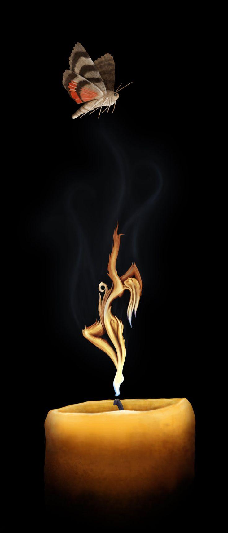 Flaming art tattoo for geek tattoo lovers this kind of batman - Moth_to_a_flame Moth Tattootattoo Inspirationbook
