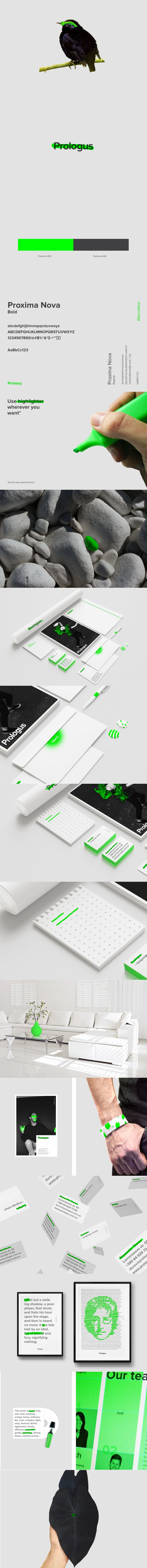 Cool Brand Identity Design on the Internet. Prologus. #branding #brandidentity #identitydesign