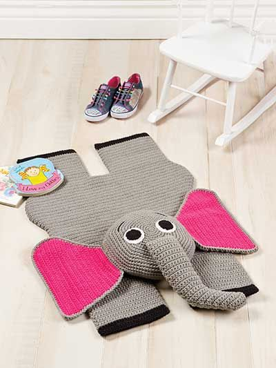 crochet pattern elephant floor rug | See More Photos