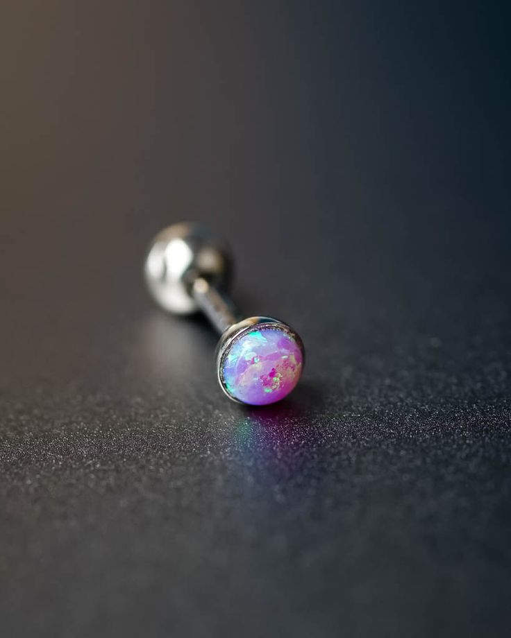 cartilage earring tragus earring cartilage piercing helix earring helix piercing purple fire opal 16g silver unique boho bohemian jewelry by JennyAndWind on Etsy https://www.etsy.com/listing/245028350/cartilage-earring-tragus-earring