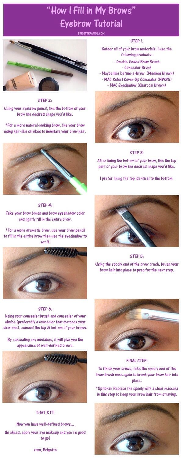 Fill In Eyebrows #Beauty #Eyebrowtips #eyebrows #makeup #makeuptips