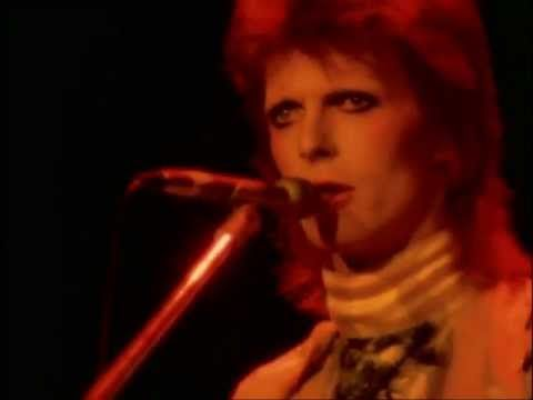 """▶ David Bowie with The Spiders From Mars featuring the wonderful Mick Ronson - """"Moonage Daydream"""" (live) the Ziggy Stardust farewell concert,1973. total genius."""