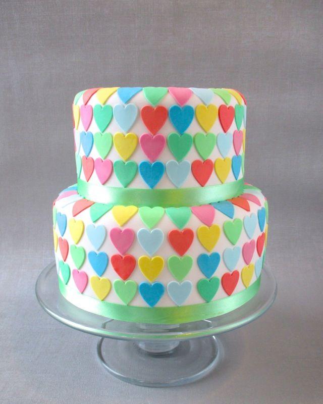 Bright Multi Colour Unusual Wedding Cakes