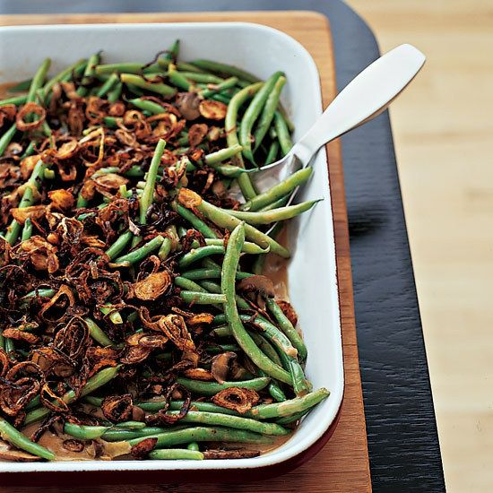 Green Beans with Cremini Mushroom Sauce | 29 Thanksgiving Side Dishes That Will Make Turkey Irrelevant