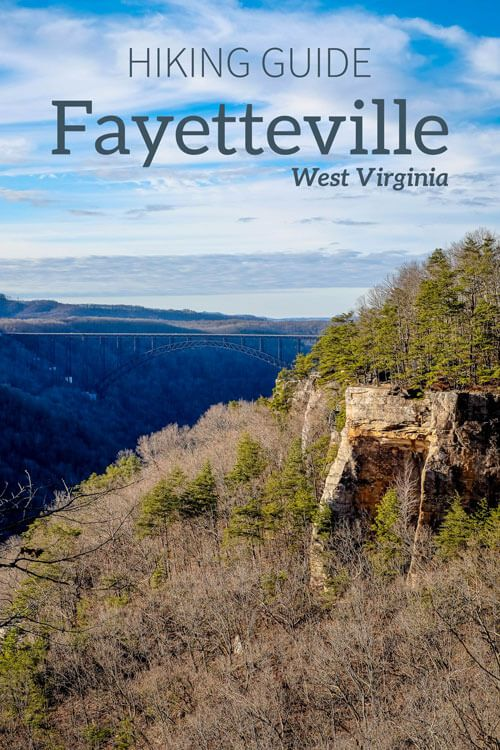 Visiting Fayetteville, West Virginia (WV)? Want to go hiking while you are there? Then check out two of the area's best hikes: The Long Point Trail and the Endless Wall Hike. Both offer great views of the New River Gorge Bridge.