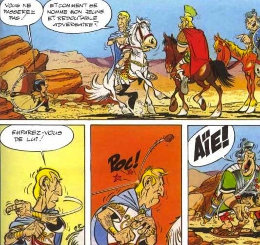 Uderzo's vigorous, stylish, precise cartooning (and beautiful horses)