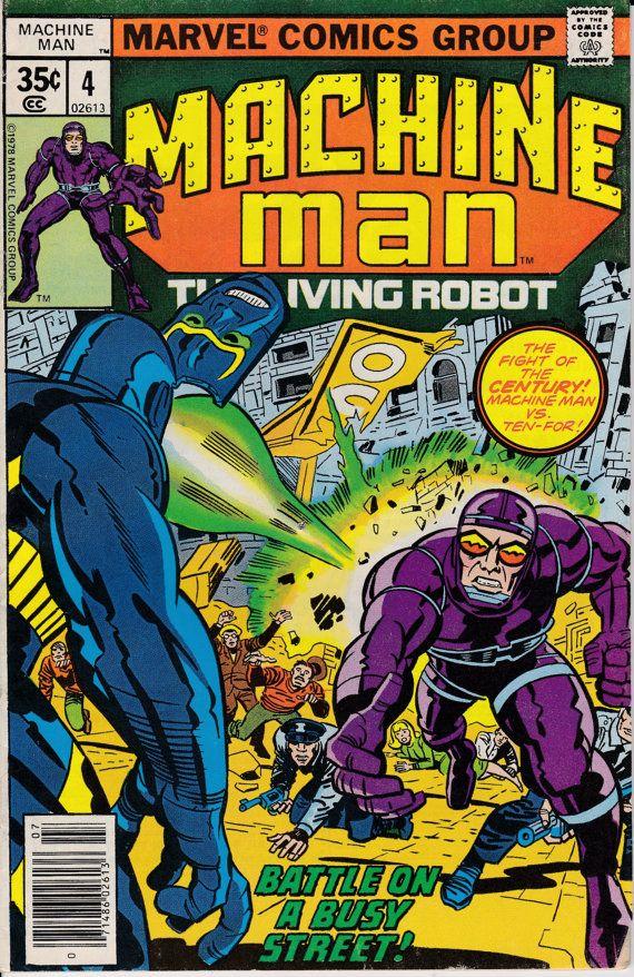 Comic Book Cover Ideas : Machine man july issue marvel comics grade vg