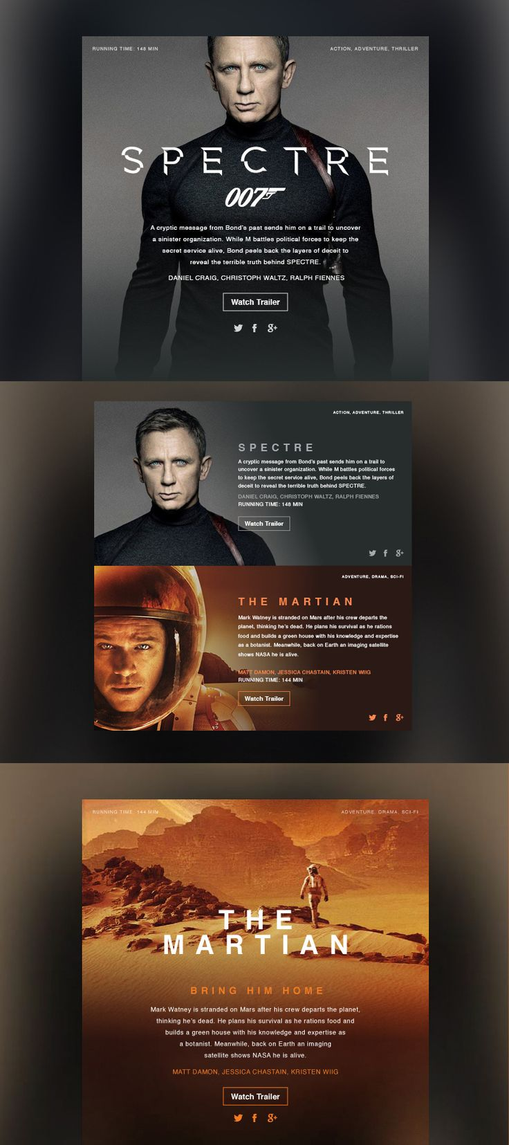 Movie Dashboards Visual Design and Ui concept by Studio–JQ