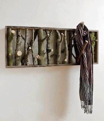 branch coat rack -- @Sue Goldberg Cochran will you make this for me at the cabin this summer??