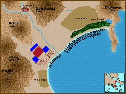 Animation of the Battle of Marathon (Phase II). By Assyrio (Wikimedia)