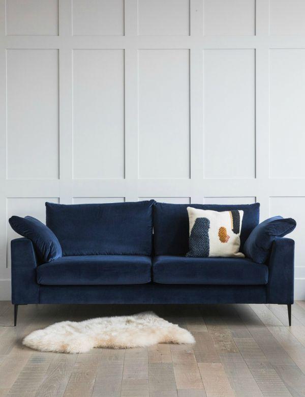 Epsom Corner Sofa Available In Velvet And Wool Rose Grey Velvet Sofa Living Room Blue Velvet Sofa Living Room Luxury Sofa Modern
