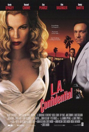 """L.A. Confidential. Excellent new noir, with an uncanny turn by James Cromwell as Irish cop Dudley Smith: """"Don't start tryin' to do the right thing, boy-o. You haven't the practice."""""""