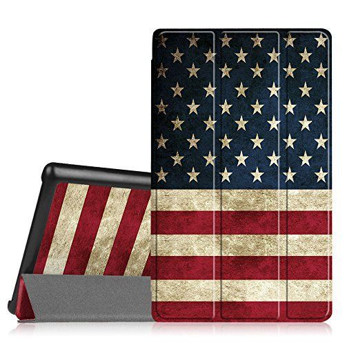 Fintie SmartShell Case for Fire HD 8 2015 Model 5th Gen Only  Ultra Slim Lightweight Standing Cover Auto Wake  Sleep for Amazon Fire 8 HD Display Tablet NOT FIT Fire HD 8 2016 US Flag <3 Click the VISIT button to enter the Amazon website