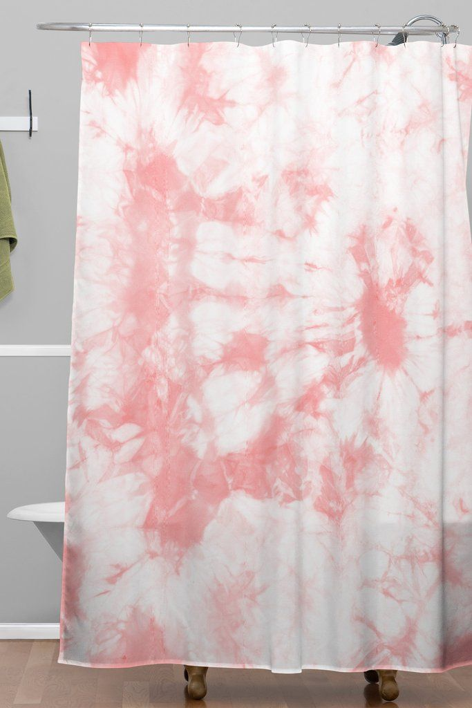 Amy Sia Tie Dye 3 Pink Shower Curtain | DENY Designs Home Accessories