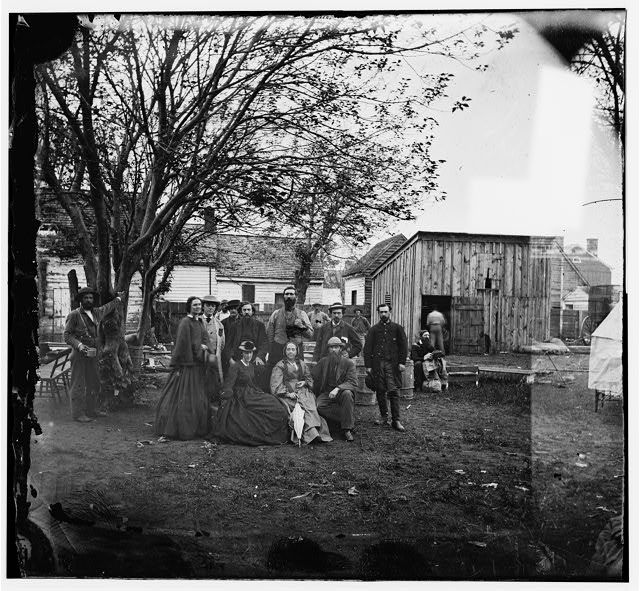 Library of congress. Sanitary commission workers during Civil War. Image, Source: digital file from original neg. of left half