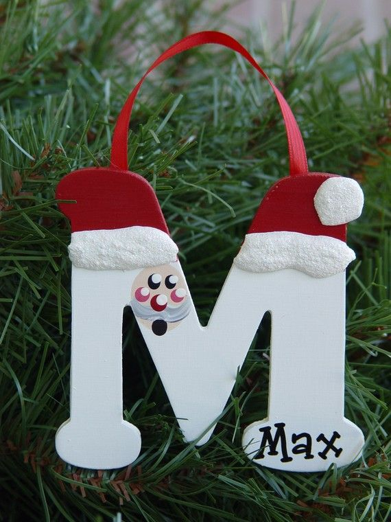 Personalized Santa letter ornaments by threedoodlebugs on Etsy