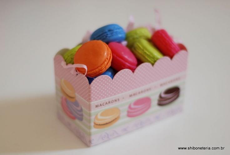 Caixinha de sabonetes macarons - 01 R$18.00