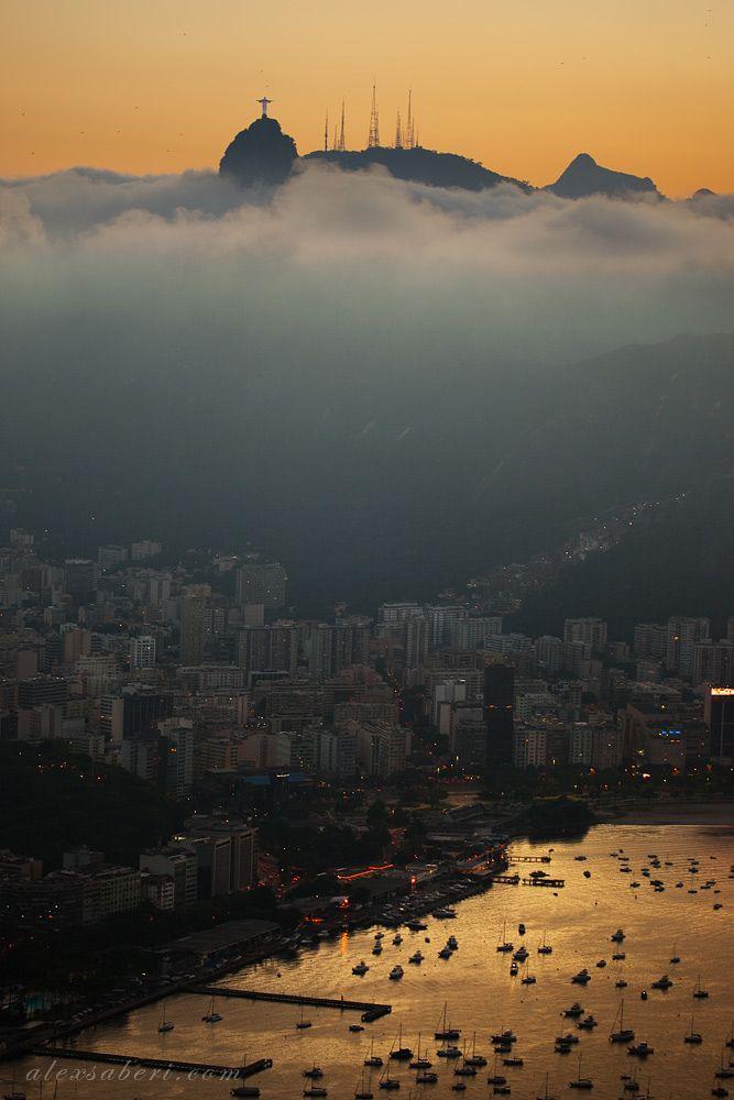 Copacabana Beach (Sugarloaf on the background) ~ Rio de Janeiro