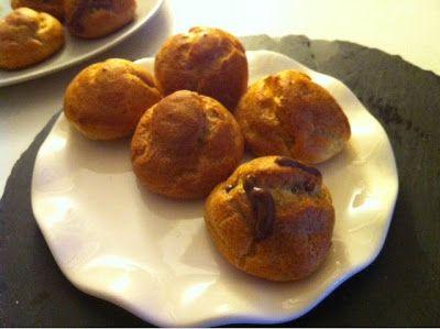 TaartenArt - de blog: Gezonde (spelt) soesjes met chocolade vulling recept zonder toegevoegdsuiker