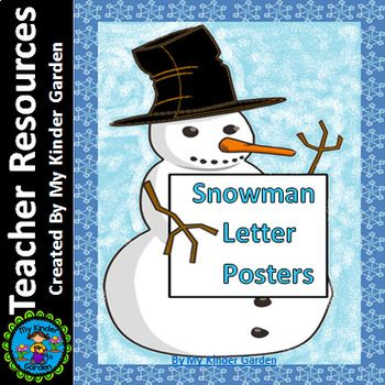 Snowman Full Page Alphabet Letter Posters / Word Wall Headers Here is a set of large full page Snowman letter posters. The posters contain a page with each uppercase letter, each lowercase letter, and a page with the uppercase letter along with the matching lowercase letter.