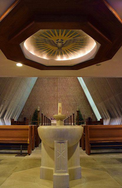Baptismal, Kramer Chapel (1958) by Eero Saarinen, Concordia Theological Seminary, Fort Wayne, IN., 2014 | by jeffery c johnson