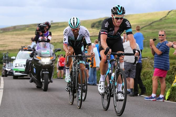 Ian Stannard leads the breakaway, stage 3 Tour of Britain 2016.