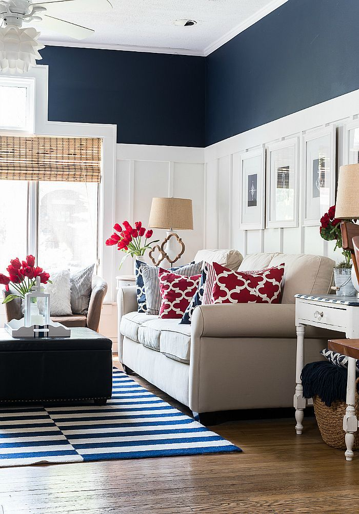 Red White Blue Americana Summer Decor It All Started With Paint Living Room Red Blue Living Room Blue Home Decor