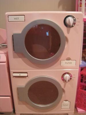 pottery barn kids pink kitchen pretend play set htf washer dryer. Black Bedroom Furniture Sets. Home Design Ideas