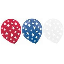 Red, White & Blue Star Balloons - Costume Supplies > Party Supplies > Holiday Parties > Independence Day and Patriotic Parties