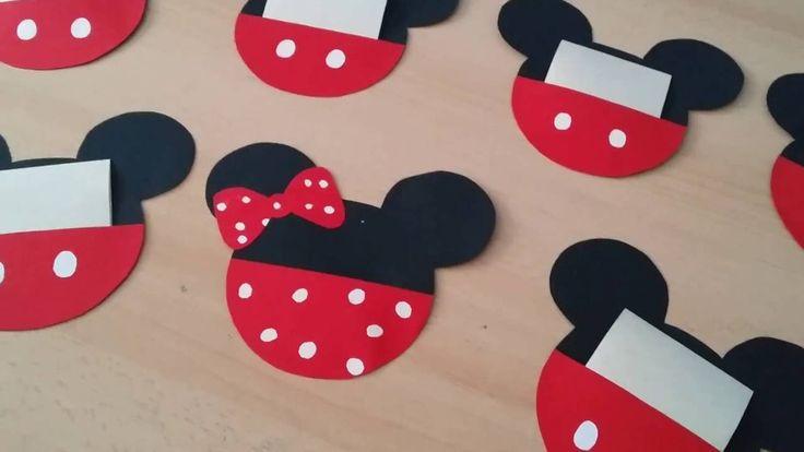Inviti di compleanno Mickey mouse fai da te