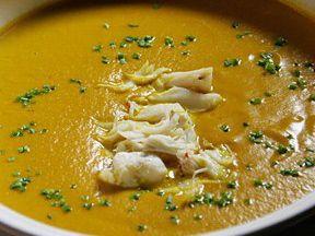 John Besh's Pumpkin Soup with Crabmeat
