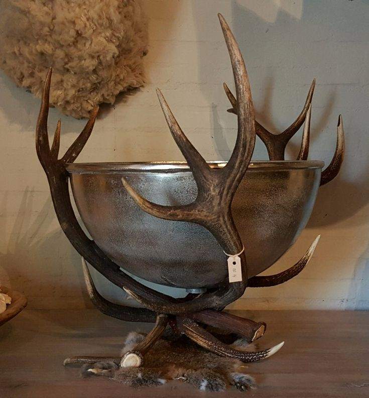 Champagne Cooler, Antler Champagne Cooler, Antler Decoration   Nice  Furniture Made Of Deer Antlers