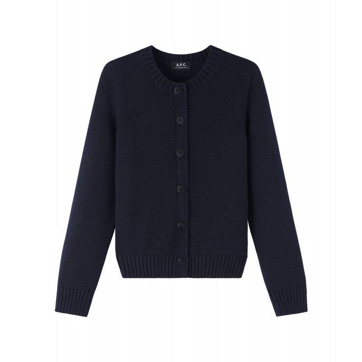 Cardigan Romane Marineblau - A.P.C. | Stickjacke, Kleidung ...