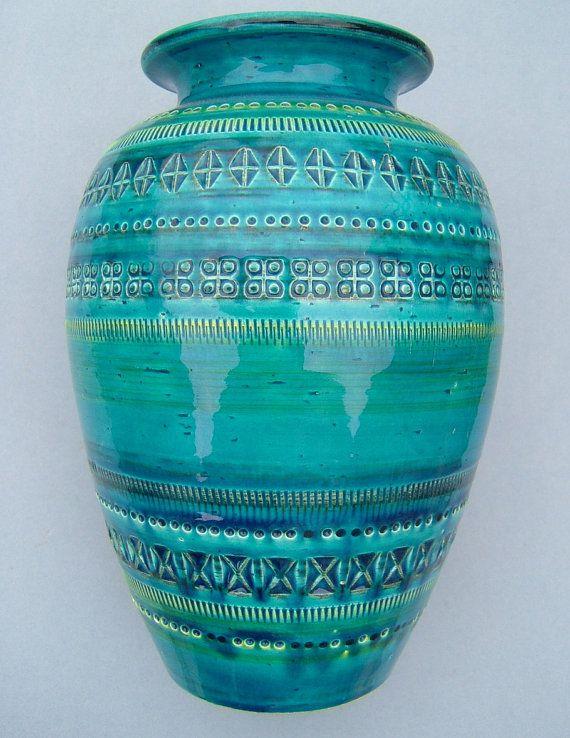 1950s Blue Aldo Londi Bitossi Vase Made In Italy In 2019