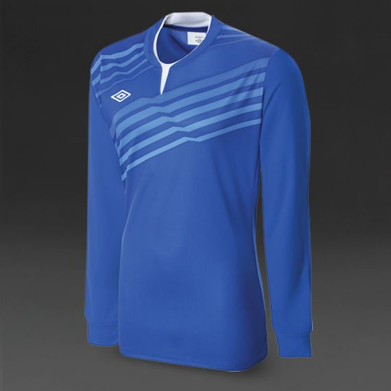 Umbro Graphic Knit LS Jersey - Royal/White