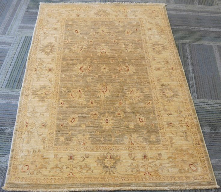 "NR: 20642 Location: Chobi Ziegler  Size: 5'0"" x 3'4"" Country: Afghanistan Pile: Wool Base: Cotton"