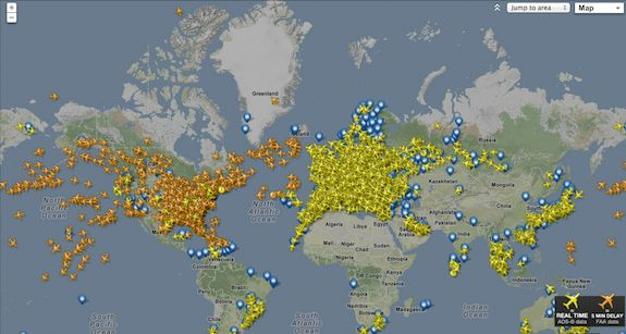 all the planes in the air right now...
